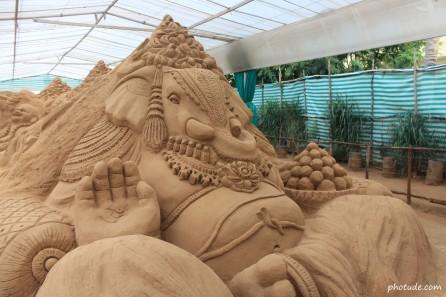 Lord Ganesh Sand Art