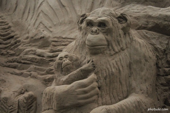 Monkey Sand Art
