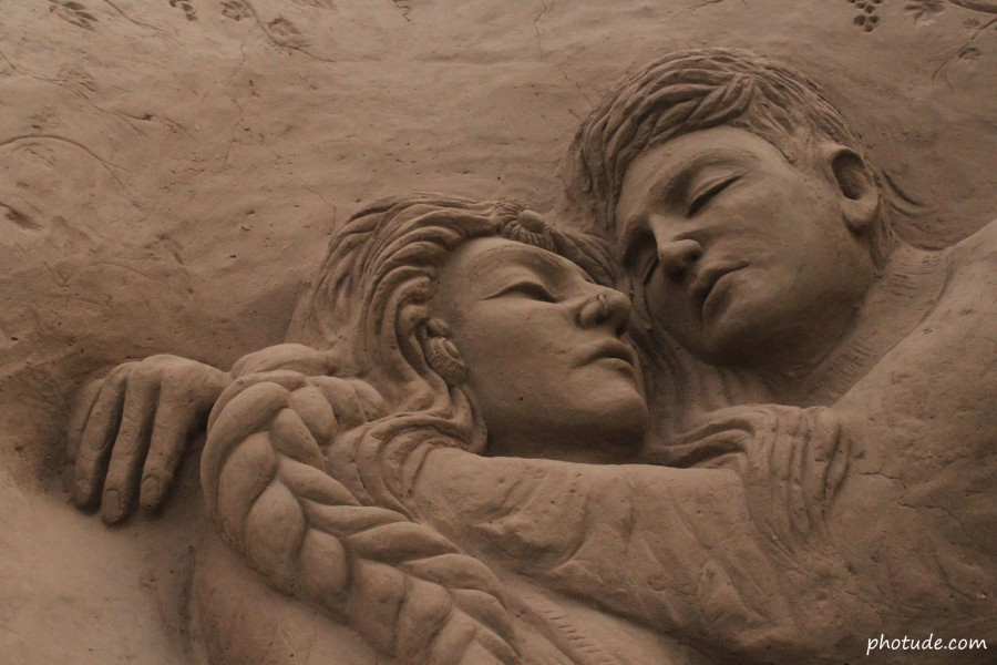 Sand Art of Romantic Couple