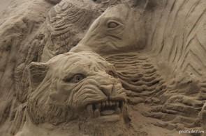 Sand Art of Wild Animals