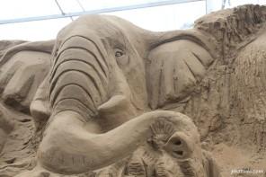 Sand Art of Elephant