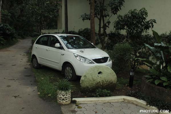 Car parked in resort