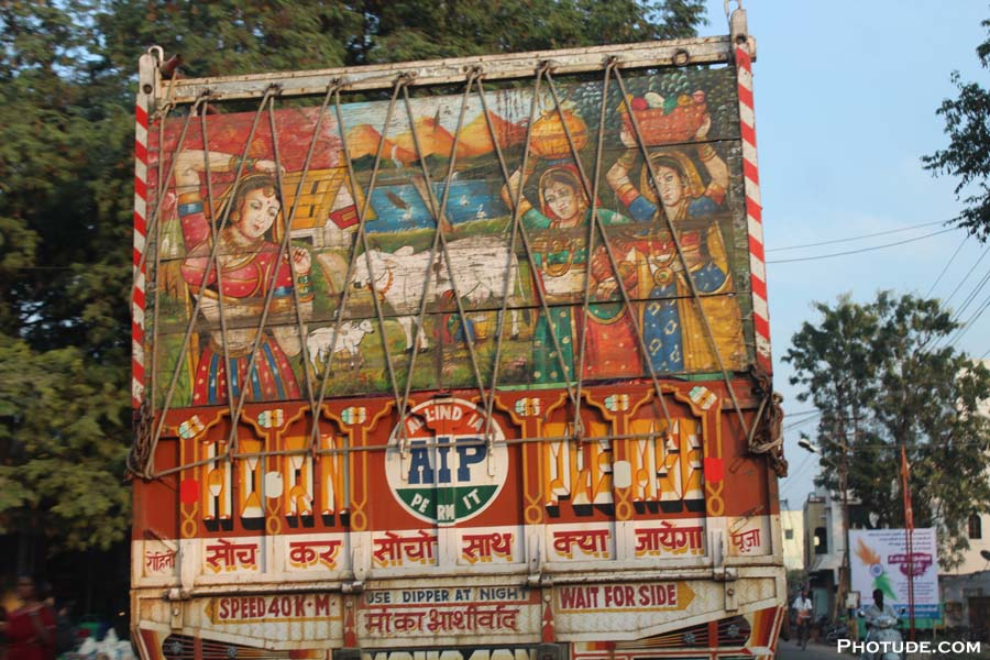 Paintings on Truck