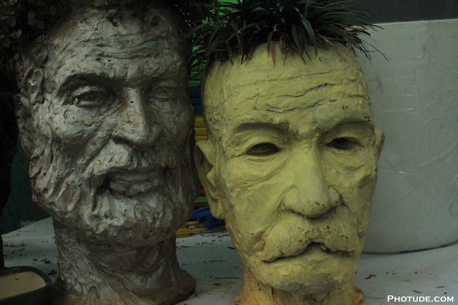 Human Face Pots